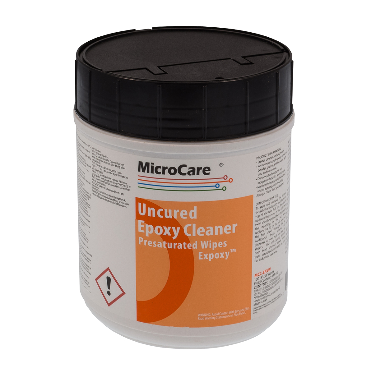 MicroCare Epoxy Pre-Saturated Wipes