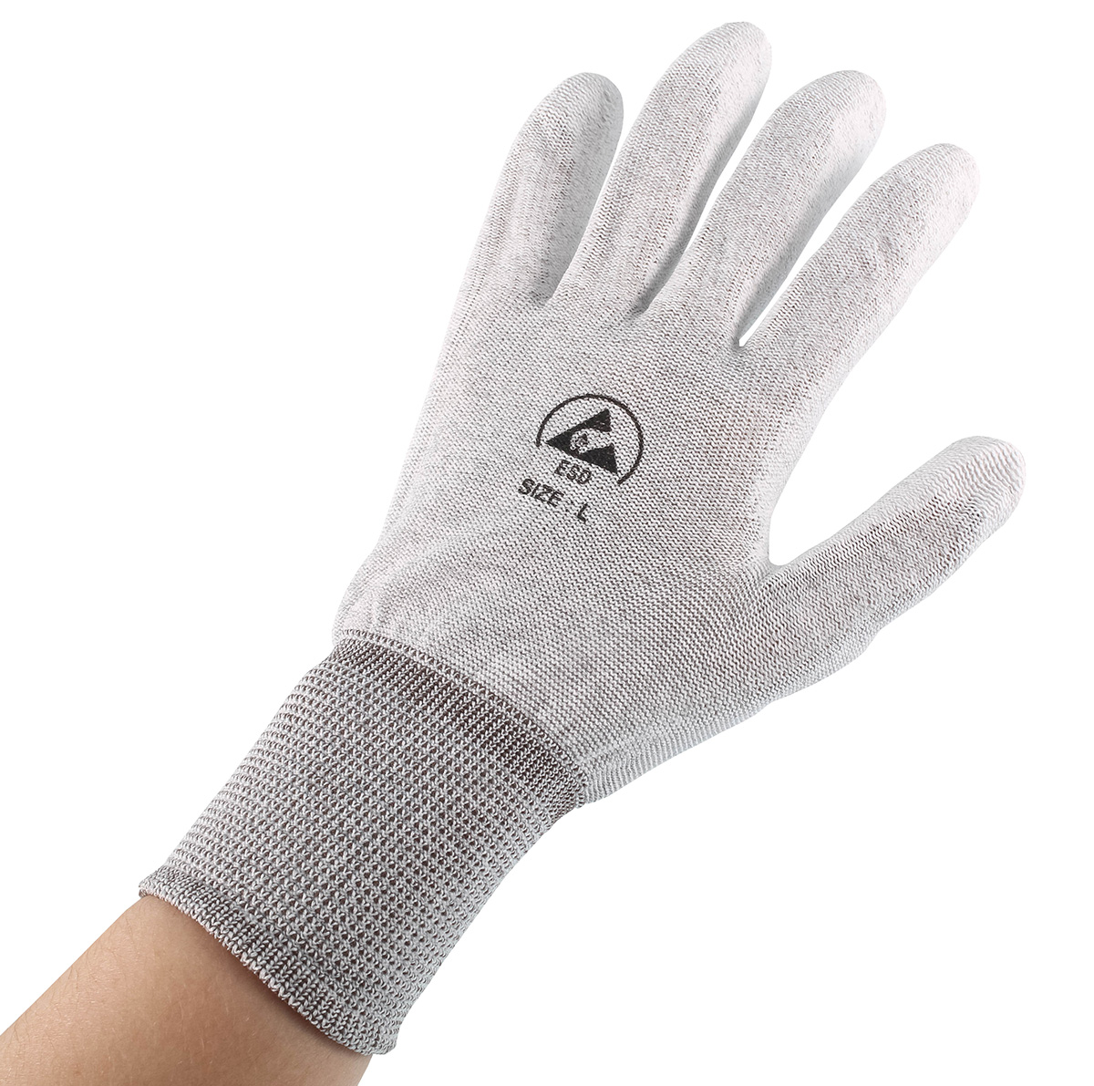 ESD Gloves - Coated Palms (L)